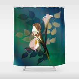 Bouquet in white Shower Curtain
