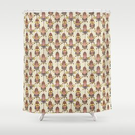 Flight of the Buzzy Bees Shower Curtain
