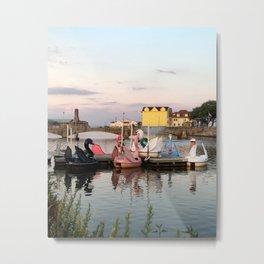Asbury Park Paddle Boats Metal Print