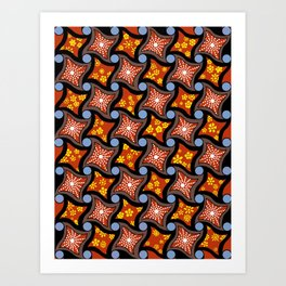 twisted squares 2.0 Art Print