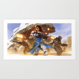 Captain ROSINI GHOSH - Strike Team NEXUS Art Print