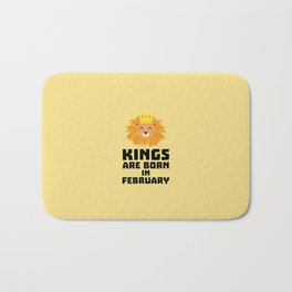 Kings are born in FEBRUARY T-Shirt D9z5c Bath Mat