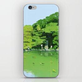 Green pond iPhone Skin