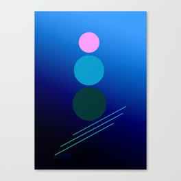 The 3 dots, power game 17 Canvas Print