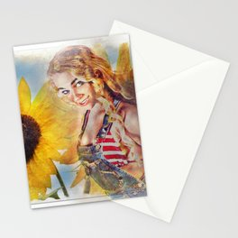 Sunflower Girl Stationery Cards