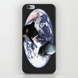 Whale & Dolphin in space iPhone Skin