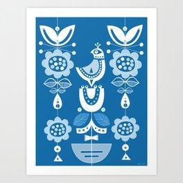 Blue Birds In Scandinavia Art Print