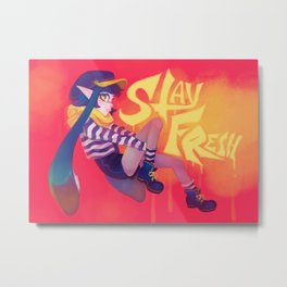 SPLATOON - F r e s h Metal Print