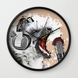 Singing Lemur Wall Clock