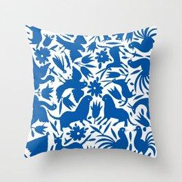 otomi blue Throw Pillow