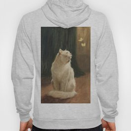White Cat and Butterflies Hoody
