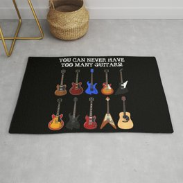 You Can Never Have Too Many Guitars! Rug