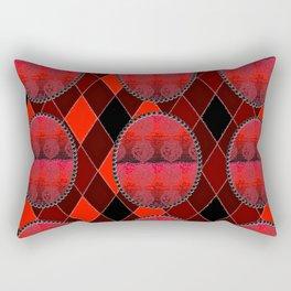 Fleur De Lis Holiday Pattern FDL Red Rectangular Pillow