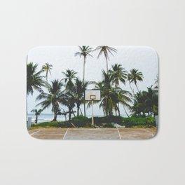 Basketball on Isla Bastimento, Bocas del Toro, Panama Bath Mat