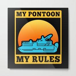 Pontoon Captain | Boat Owner Pontoon Metal Print