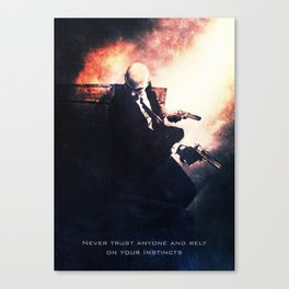 Agent 47 the Hitman Canvas Print