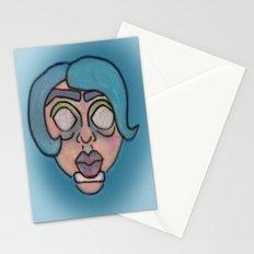 mod girl Stationery Cards
