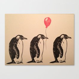 March of the Penguins Canvas Print