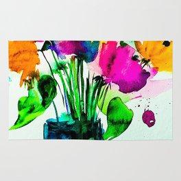 big colorful bouquet Rug