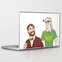 legolas Laptop & iPad Skins featuring Hipster Legolas and Gimli by Nautilus Gifticus