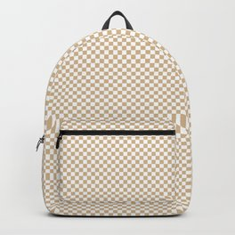 Almond Baby Camel and White Mini Check 2018 Color Trends Backpack