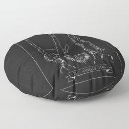 The Hanged Man Tarot Card Floor Pillow