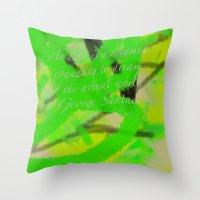 artsy Throw Pillows featuring Artsy by DesignByAmiee