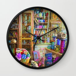Kitty Heaven Wall Clock