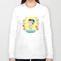marine Long Sleeve T-shirts featuring Marine by Lola Draloug
