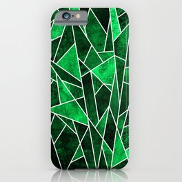 Shattered Emerald iPhone Case