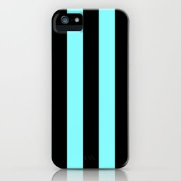 Turquoise and Black Stripes iPhone Case