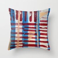 coasters Throw Pillows featuring Popsicles and Roller Coasters by Lauren Packard