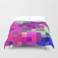 pixel art Duvet Covers featuring Pixel by FABIAN•SMITH