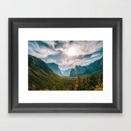 Tunnel View at Yosemite (USA) Framed Art Print
