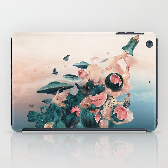 Watermelon&Black cock iPad Case