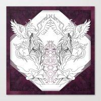 chakra Canvas Prints featuring Chakra by BAKLAVART