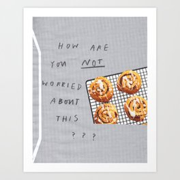worried Art Print