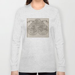 Vintage Map of The World (1701) Long Sleeve T-shirt