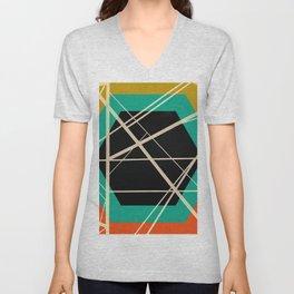 Crossroads - color hexagon Unisex V-Neck