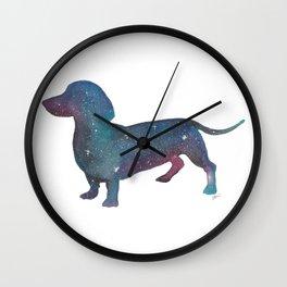 Galaxy Dachshund Wall Clock