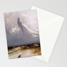 Peder Balke - Stetind in Fog - Stetind i tåke - Norwegian Oil Painting Stationery Cards