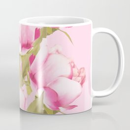 Pink Peonies on a pink background - #Sociey6 #buyart Coffee Mug