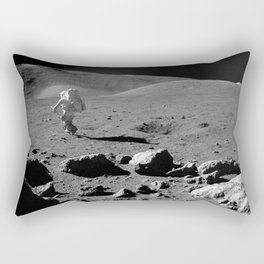 Apollo 17 - Astronaut Running Rectangular Pillow
