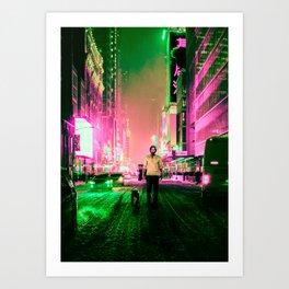 Cyberpunk John Art Print