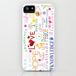Inspirational Words iPhone Case