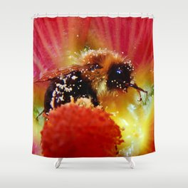 The Bee in the Flower Shower Curtain