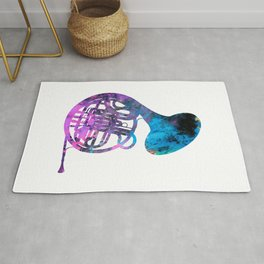 french horn music Rug