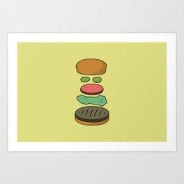 Bob's Burgers Hamburger Parts Art Print
