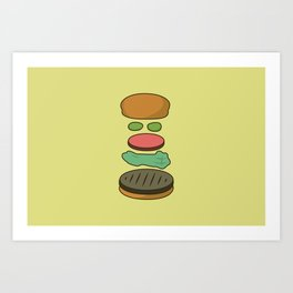 Bob's Burgers Hamburger Parts Art Print