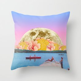 Pink lake Throw Pillow